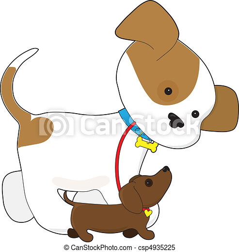 cute puppy walking a pup a cute puppy is taking a little clipart rh canstockphoto com cute husky puppy clipart cute pet clipart