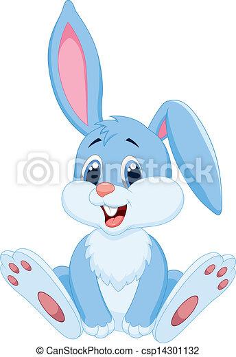 Cute rabbit cartoon - csp14301132