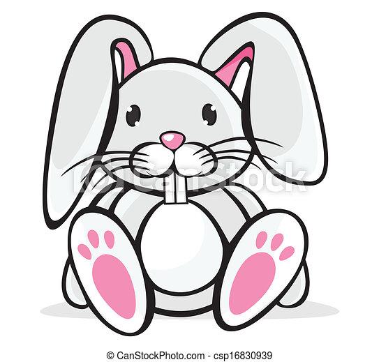 Cute Rabbit Clipart Vector Graphics 43421 Cute Rabbit Eps Clip Art