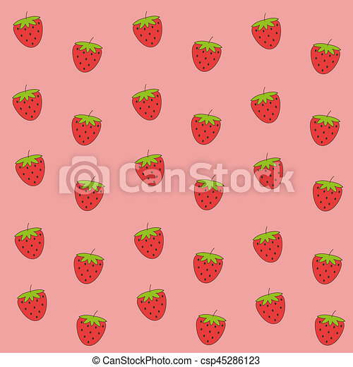 Cute Red Strawberry Wallpaper