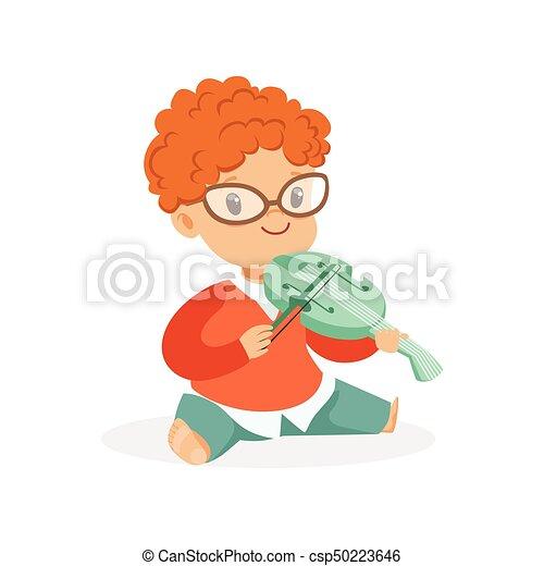 Boy Playing Violin Drawing