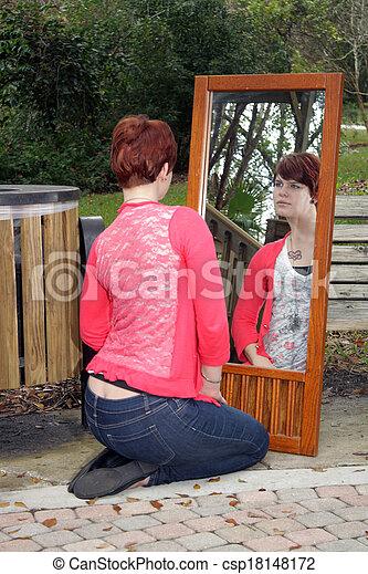 Cute redhead mirror pics