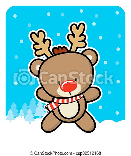 Cute Reindeer Christmas Card