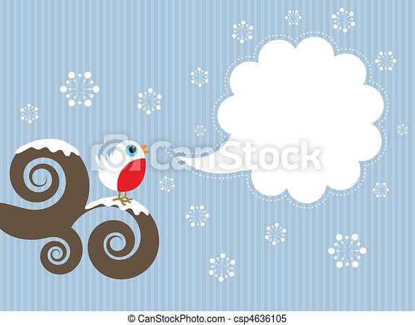 Cute Robin Background Vector