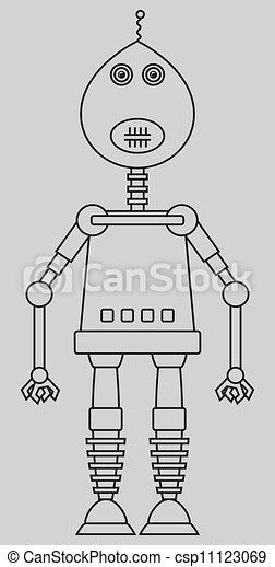 Cute robot - csp11123069