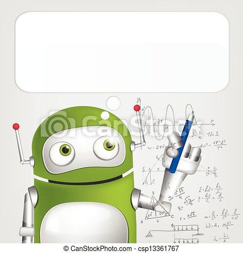 Cute Robot - csp13361767