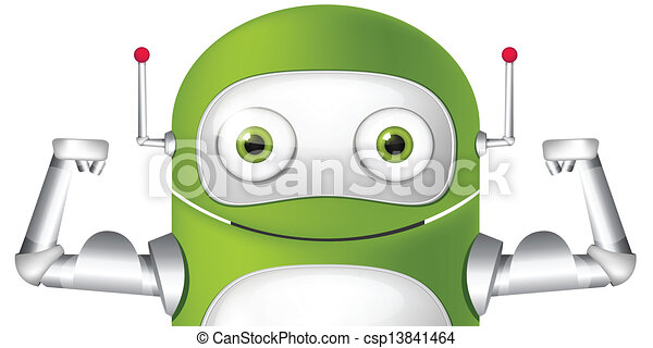 Cute Robot - csp13841464