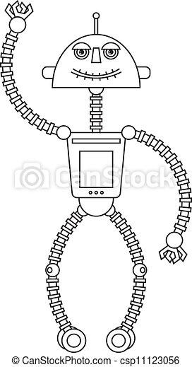 Cute robot - csp11123056