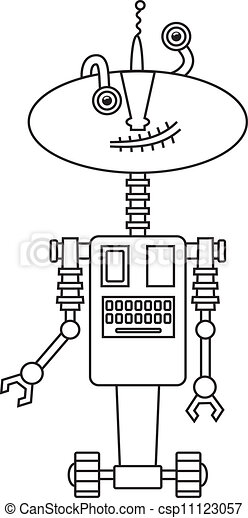 Cute robot - csp11123057