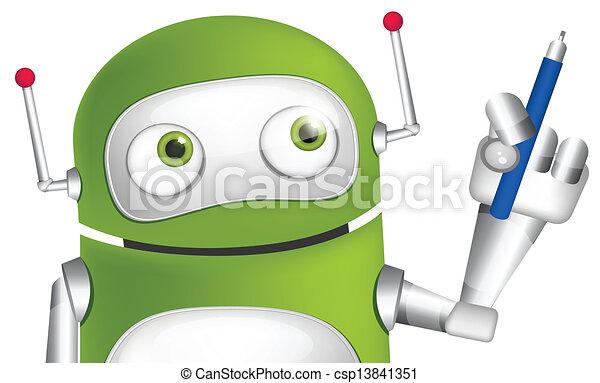 Cute Robot - csp13841351