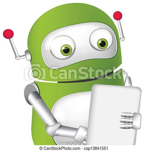 Cute Robot - csp13841551