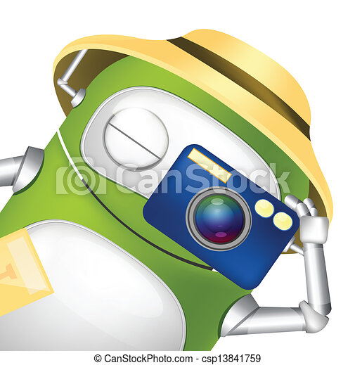 Cute Robot - csp13841759