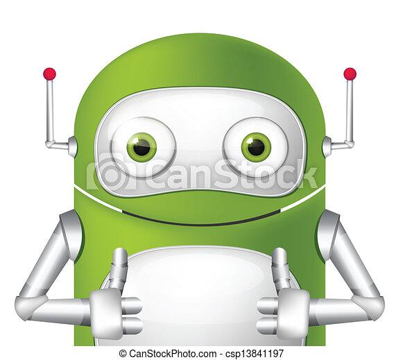 Cute Robot - csp13841197