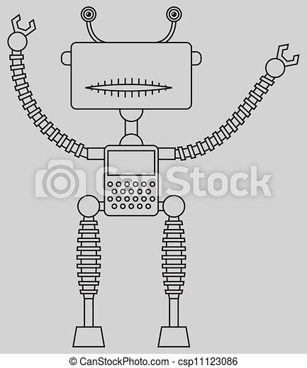 Cute robot - csp11123086