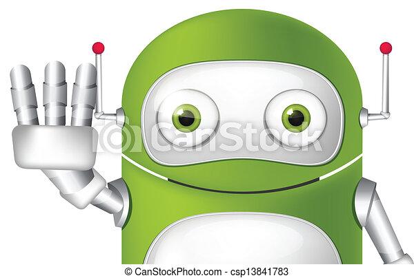 Cute Robot - csp13841783
