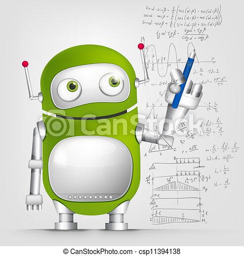 Cute Robot - csp11394138