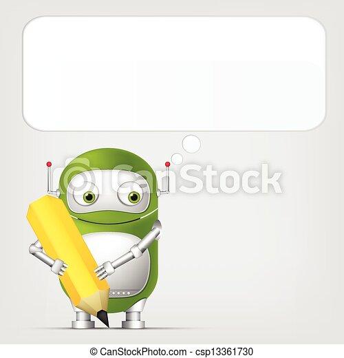 Cute Robot - csp13361730