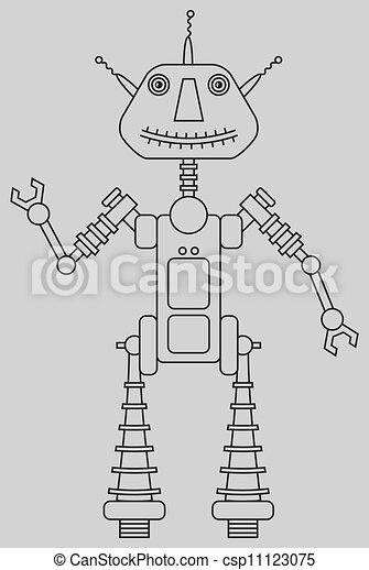 Cute robot - csp11123075