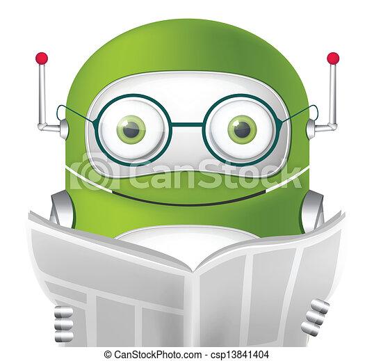 Cute Robot - csp13841404