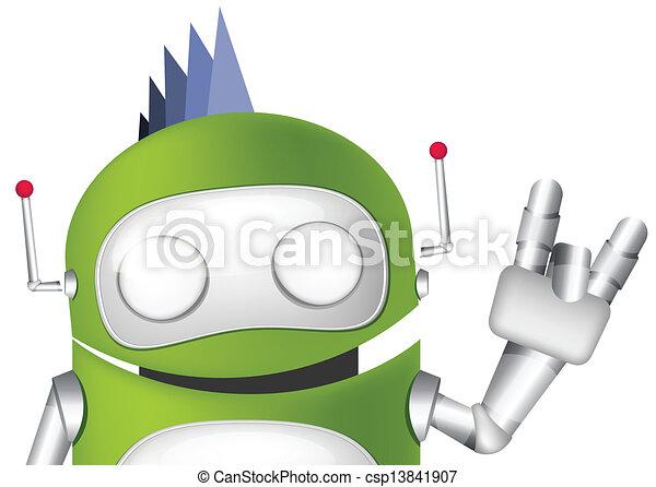Cute Robot - csp13841907