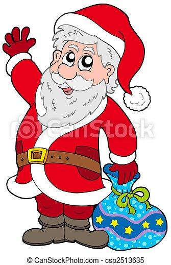 cute santa claus with gifts csp2513635 - Santa Claus Gifts