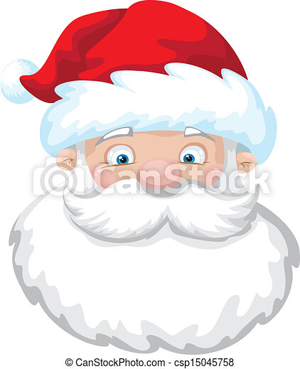 illustration of a cute santa clipart vector search illustration rh canstockphoto com cute santa and reindeer clipart cute santa clipart free