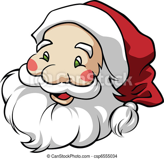 cute santa claus head in a round composition eps vector search rh canstockphoto com vector drawing of santa claus santa claus vector art free