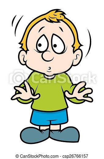 Cute Scared Cartoon Boy Cartoon Cute Small Scared Boy Character - Cartoon-boy-images-free