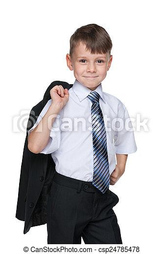 Cute school boy - csp24785478