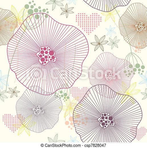 Cute seamless pattern - csp7828047