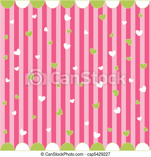 Cute seamless pattern with hearts - csp5429227