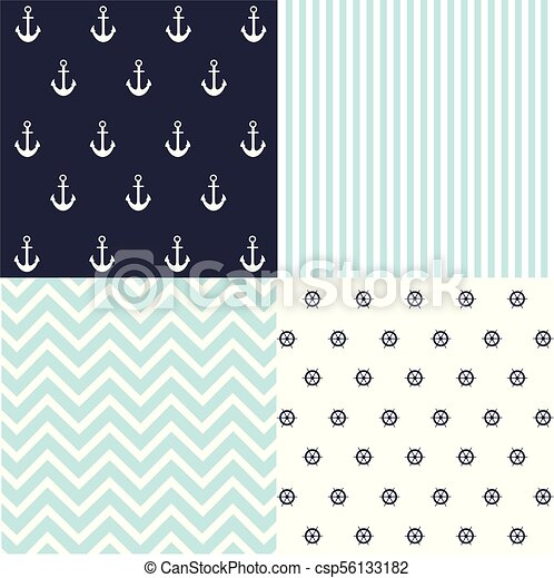 Cute Set Of Baby Boy Seamless Patterns With Fabric Textures Gorgeous Boy Patterns