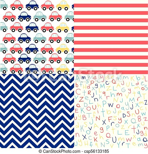 a9a169669 Cute set of Baby Boy seamless patterns with fabric textures - csp56133185