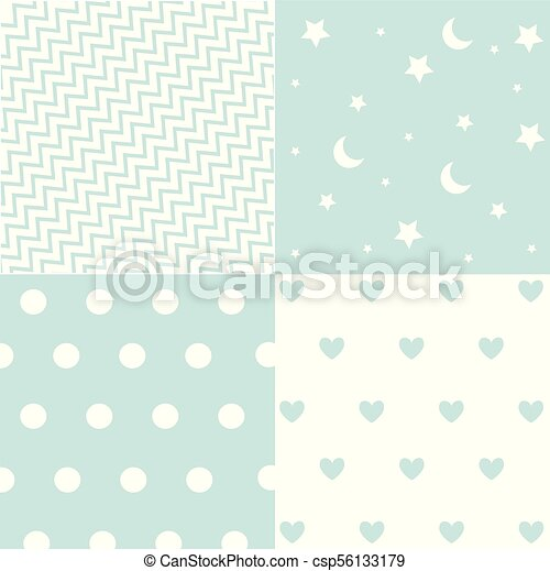 Cute Set Of Baby Boy Seamless Patterns With Fabric Textures Classy Cute Patterns