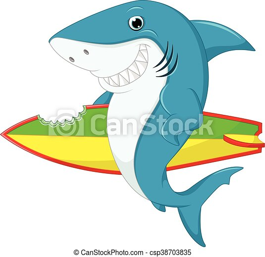 illustration of cute shark surfing cartoon vectors search clip art rh canstockphoto com  cute shark clipart black and white