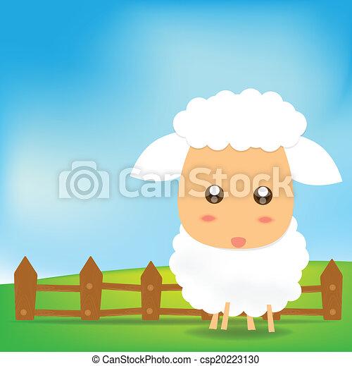 Cute Sheep  - csp20223130