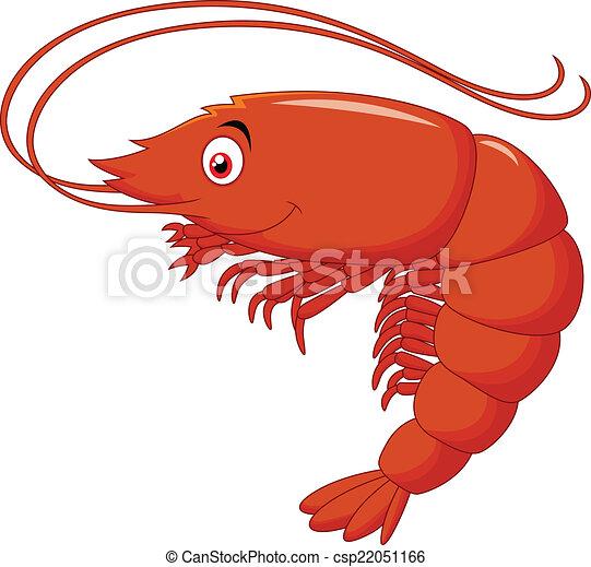 vector illustration of cute shrimp cartoon Shrimp Outline Shrimp Boil Clip Art
