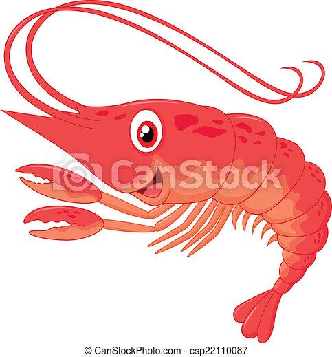 Cute shrimp cartoon - csp22110087