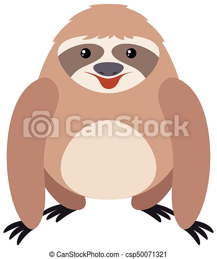 Cute sloth with happy face - csp50071321