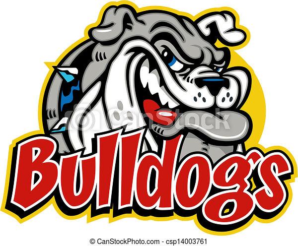 cute smirking bulldog face - csp14003761