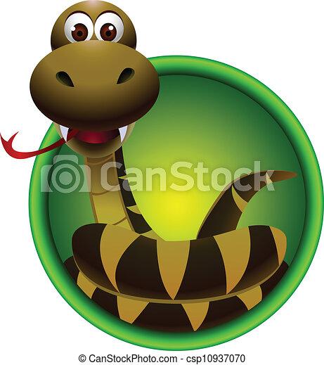 cute snake cartoon - csp10937070