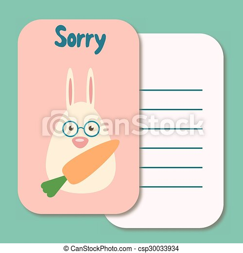 Cute Sorry Card Vector  Free Printable Apology Cards