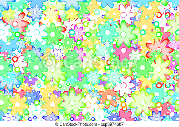 Cute Spring Flowers Abstract - csp3974687