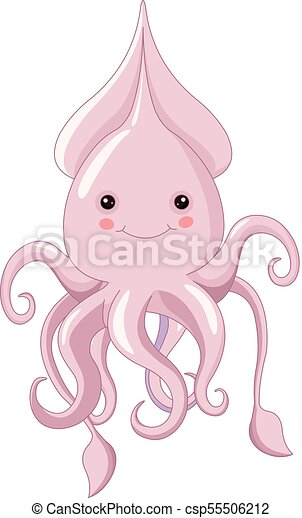 cute squid illustration of very cute squid https www canstockphoto com cute squid 55506212 html
