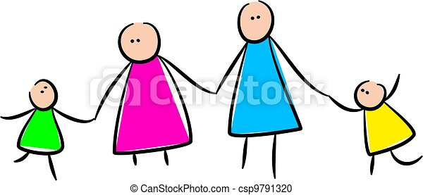 cute stick family holding hands simple whimsical style stock rh canstockphoto com stick family clipart free stick figure family clipart free