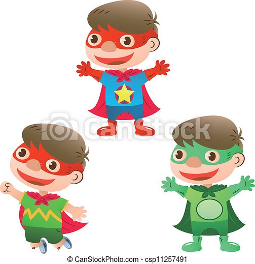 cute super hero boy - csp11257491