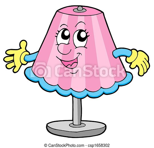 Cute table lamp isolated illustration clip art search cute table lamp csp1658302 aloadofball Image collections