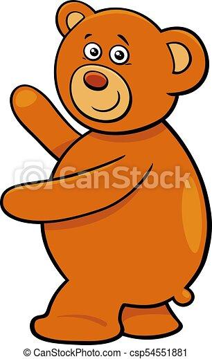 cute teddy bear cartoon character - csp54551881