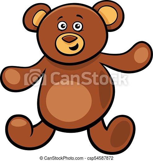cute teddy bear cartoon toy character - csp54587872