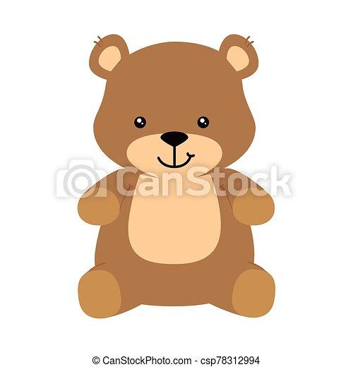 cute teddy bear isolated icon - csp78312994